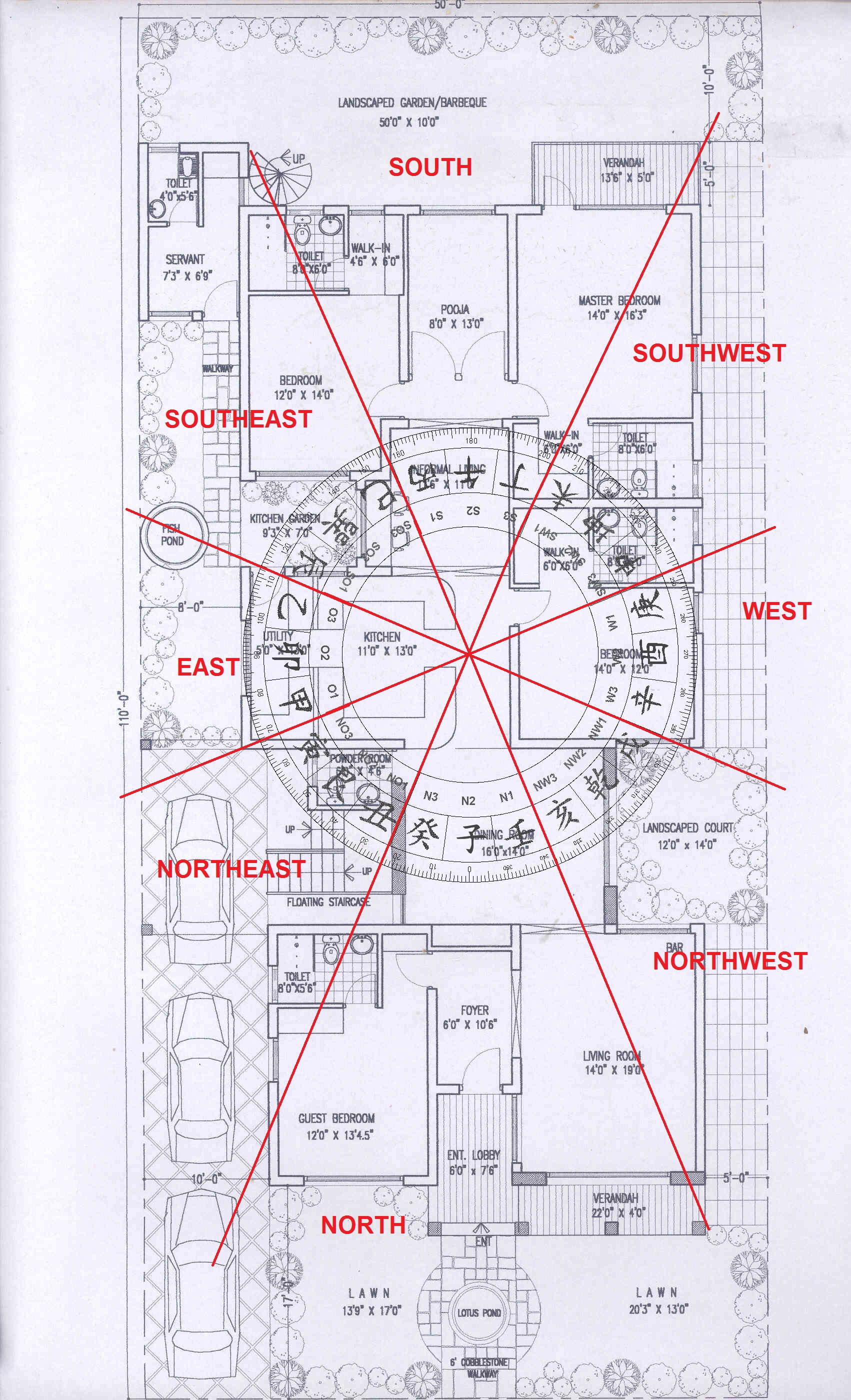 how to organise houes plan with feng shui